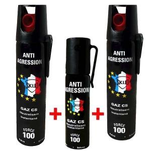 Lot lacrymo GAZ  : 3 Bombes lacrymogène